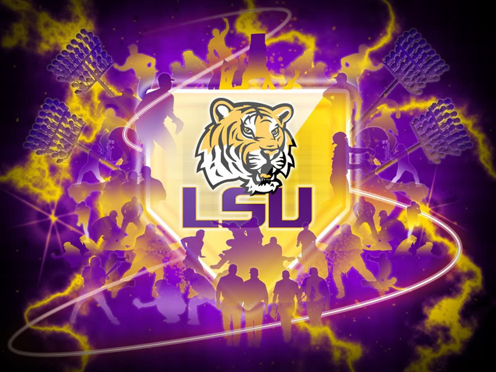 LSU Tigers NCAA Football Logo (With images) Lsu baseball