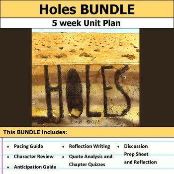 Holes Unit Bundle | Everything, Student-centered resources and ...