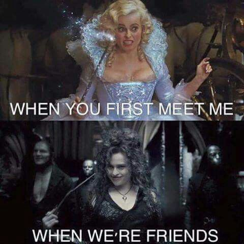 When You First Meet Me When We Re Friends Bellatrix Lestrange Funny Harry Potter Jokes Harry Potter Quiz Harry Potter Memes Hilarious