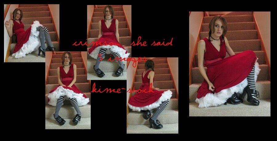 red petticoat dresses