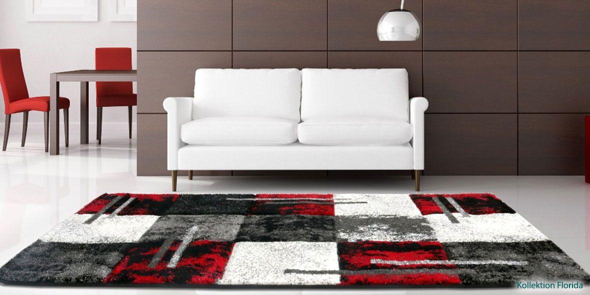 Wohnzimmer Teppich Carpet Modern Grau Beige Braun Weiss Style ... Wohnzimmerwand Rot