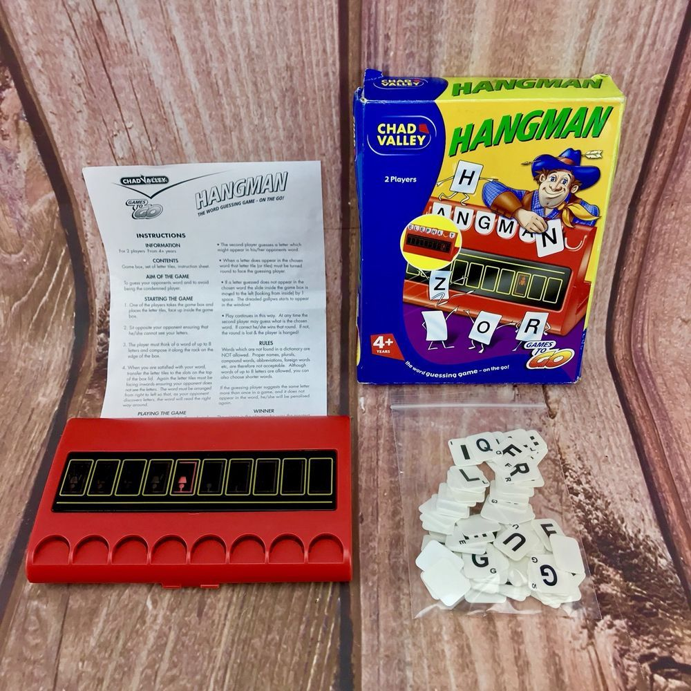 Chad Valley Hangman Game 4 Word Guessing Kids Family Toys
