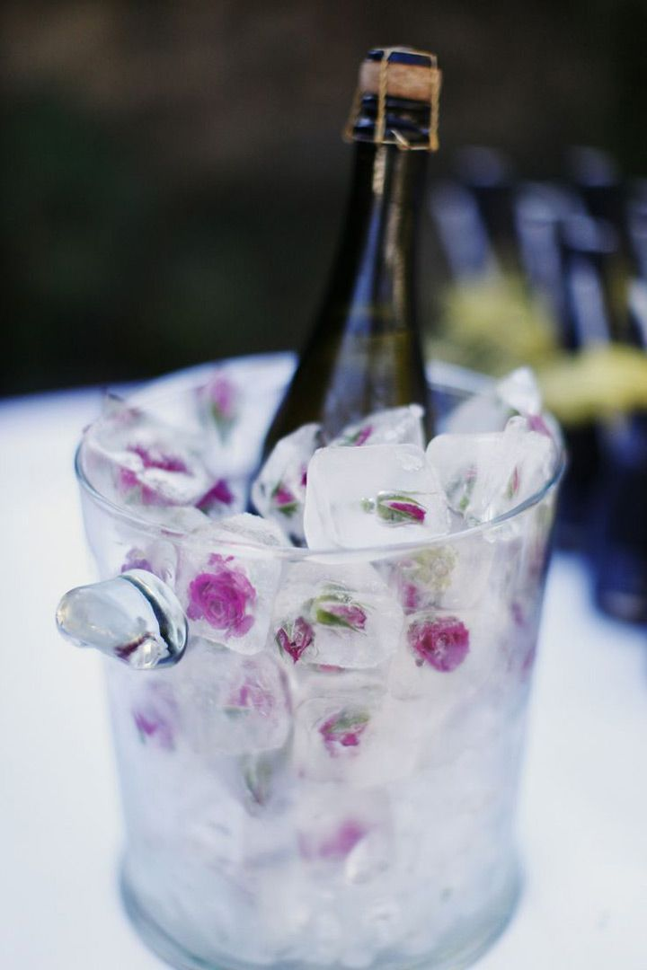 Fl Ice Bucket And Edible Flower Cube Wedding Ideas We This Moncheribridals Weddingsignaturedrinks