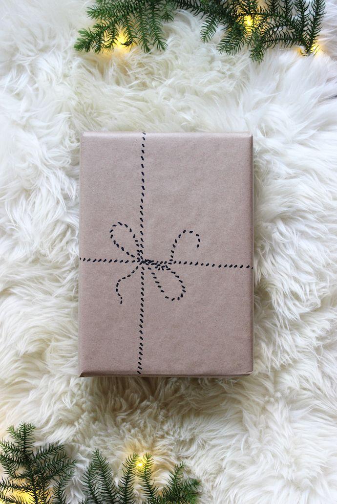 5 kraft paper christmas gift wrap ideas