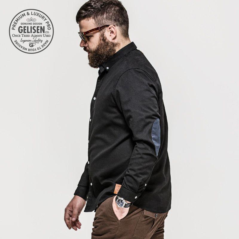 4888913d42d GELISEN 2015 Brand Fashion Men s Large Size shirt