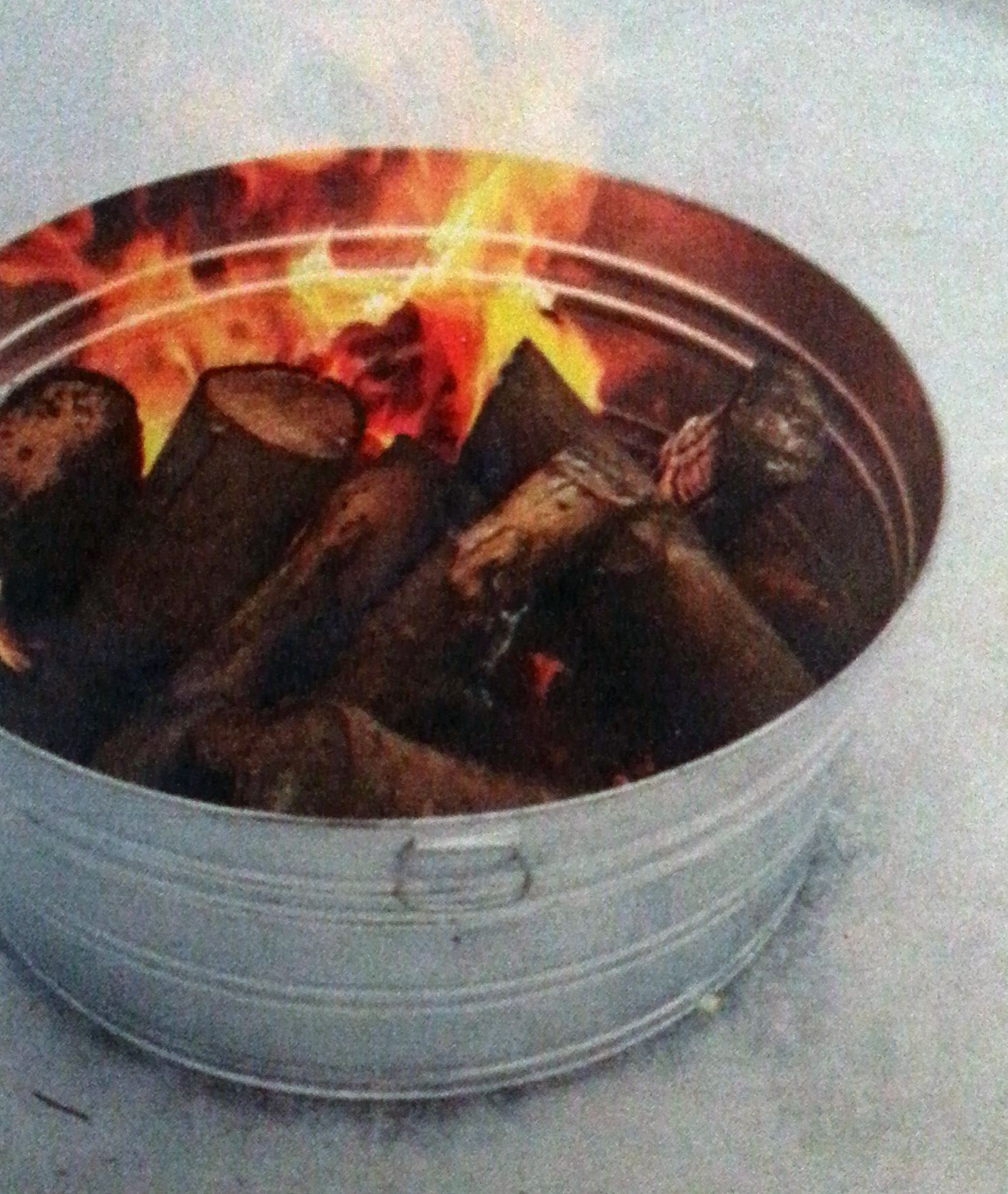 galvanized tub camp firepit patio lawn ideas