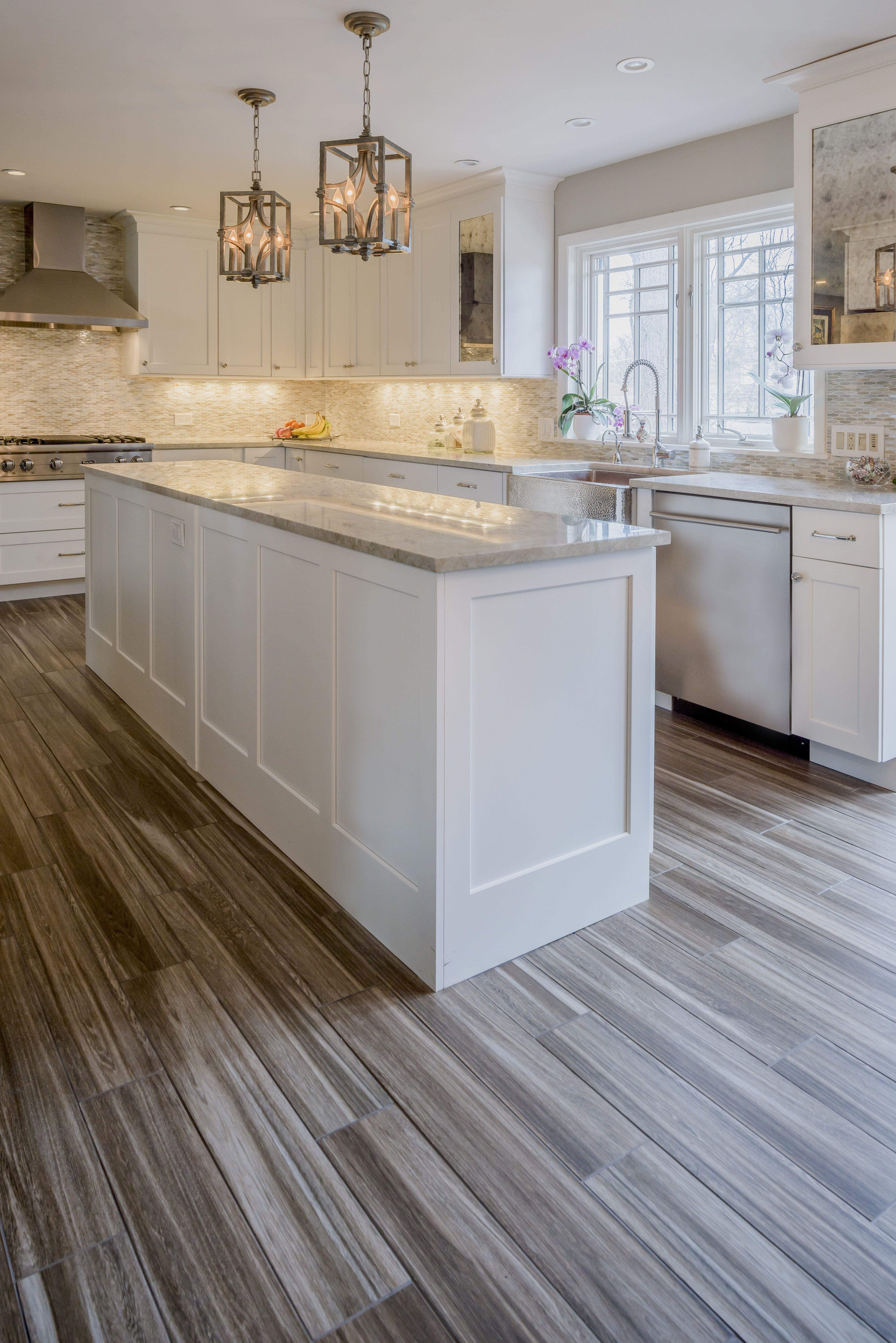 White Grey Kitchen. Kitchen Remodel. White Shaker