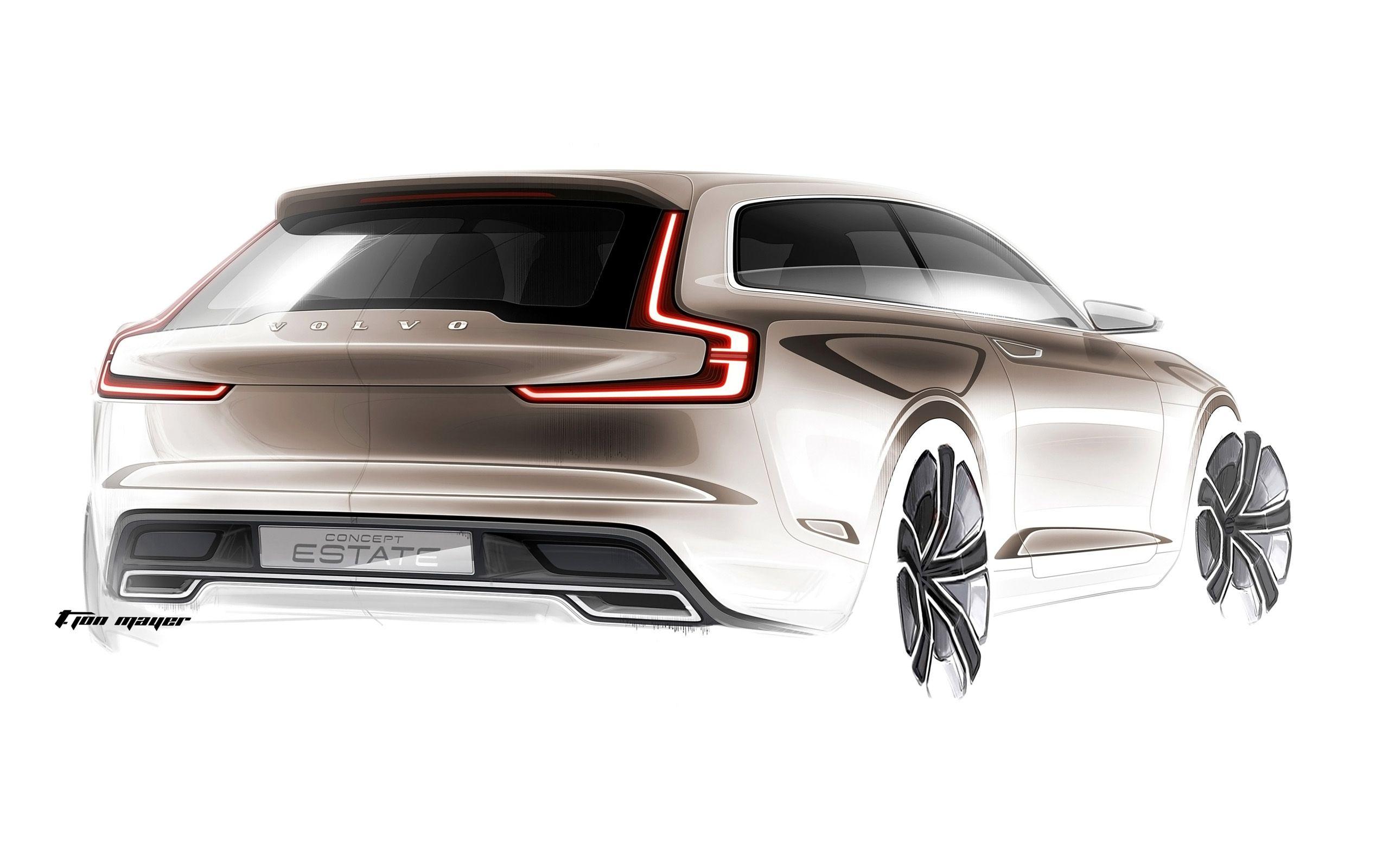 Volvo Concept Estate Sketches_05 (2560x1600) | Volvo Concept Estate ...
