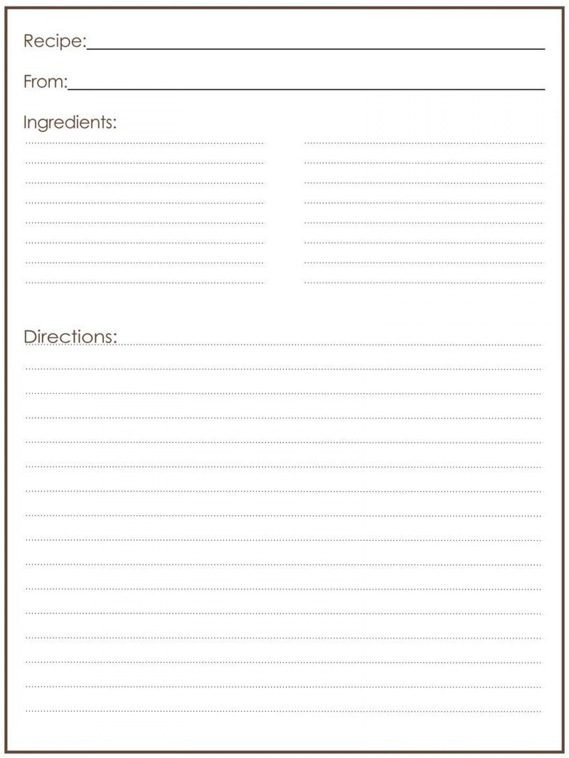 Free Editable Recipe Card Templates For Microsoft Word In 2021 Recipe Template For Word Recipe Cards Template Recipe Template