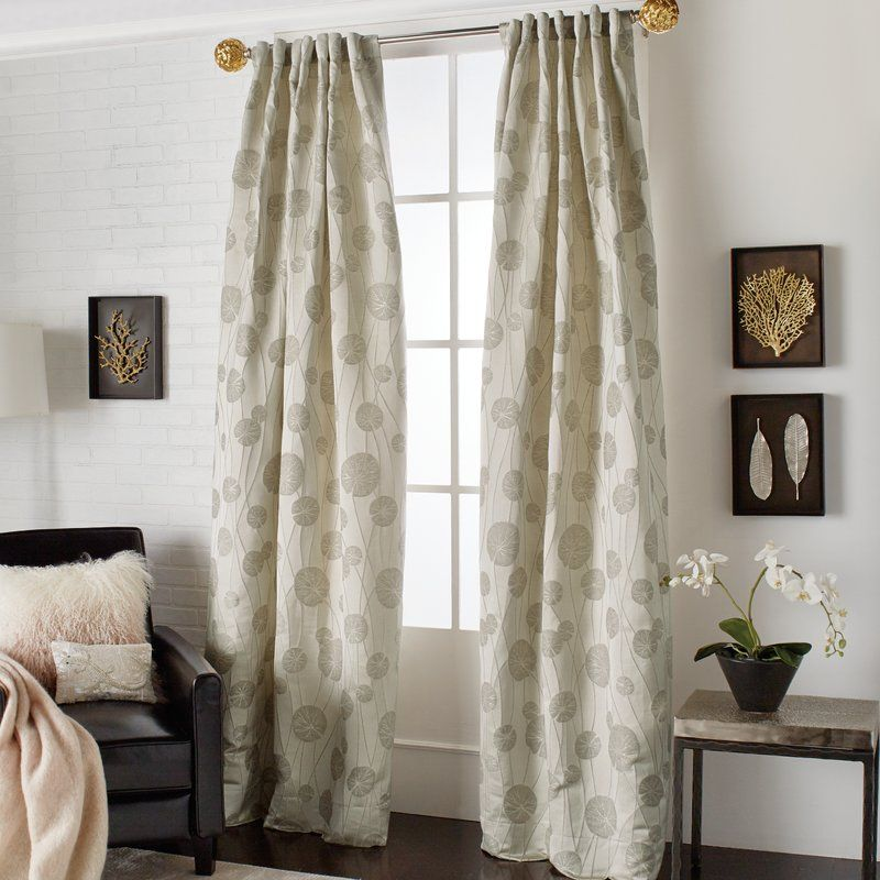 Lily Pad Floral Rod Pocket Curtain Panels Drapes Curtains Rod