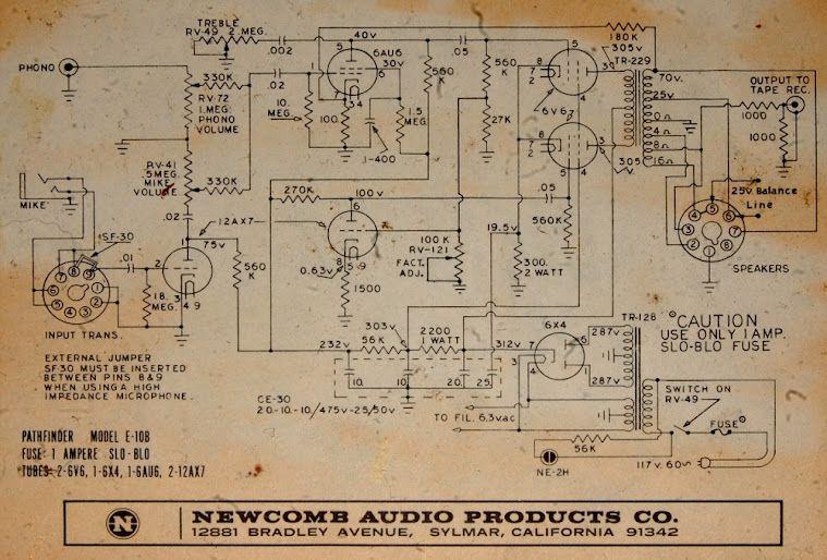 Tube amp schematic. Tubes! | Random Stuff | Pinterest | Vacuum tube ...