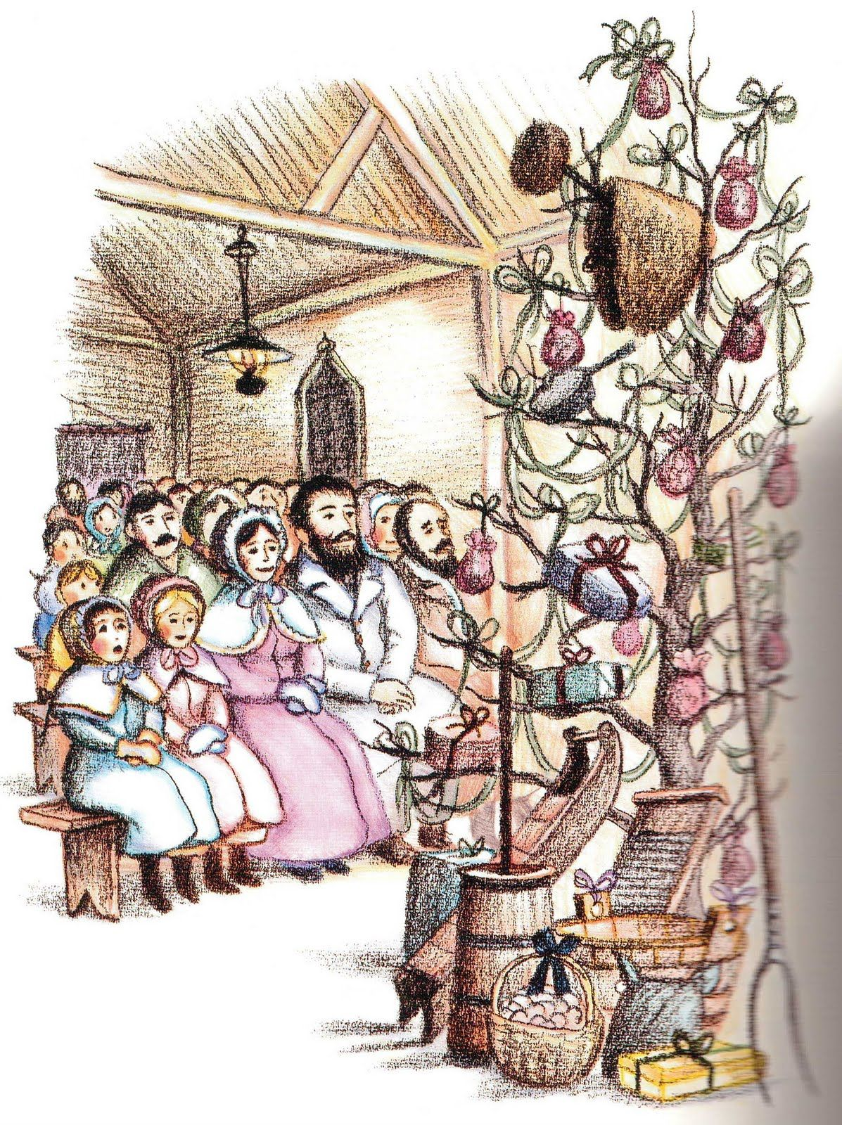 From \'A Little House Christmas\' by Laura Ingalls Wilder | La Navidad ...