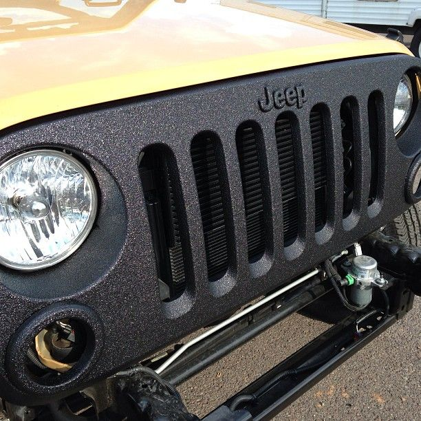 jeep jk DIY bedliner ideas Google Search Jeep grill