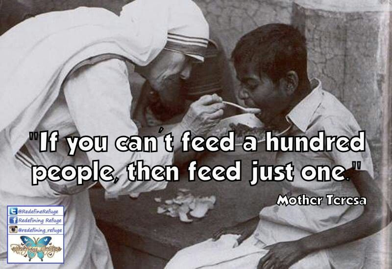 Image result for mother teresa feeding the poor