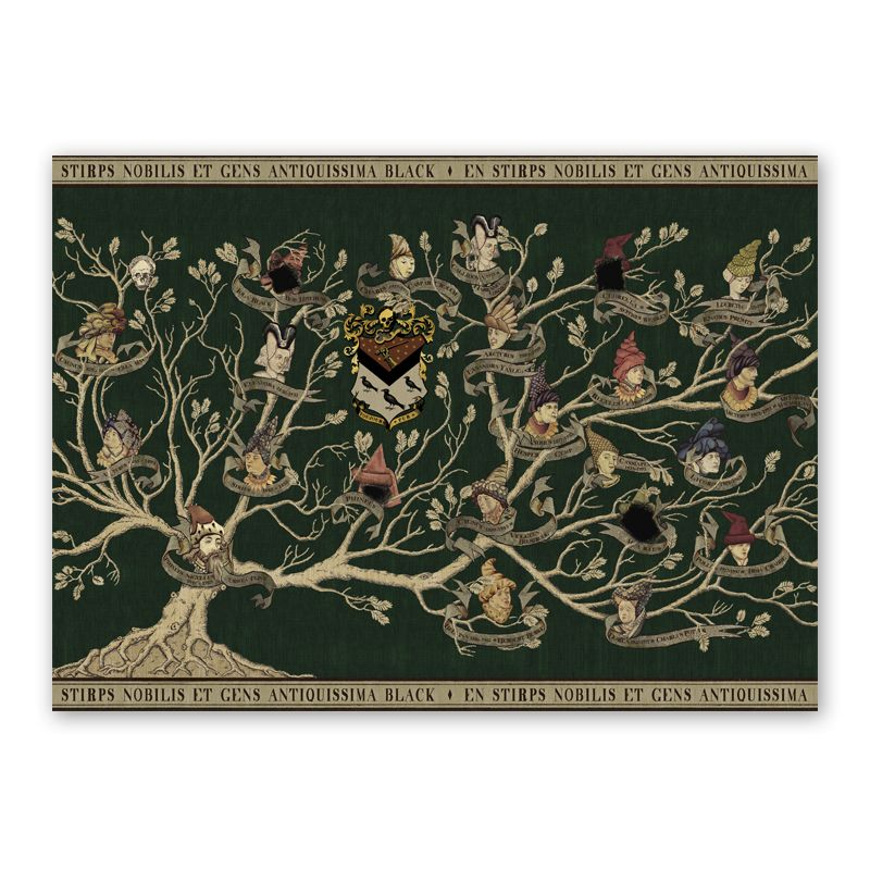 Black Family Tapestry Poster Minalima Store Family Tree Art Harry Potter Family Tree Harry Potter Poster