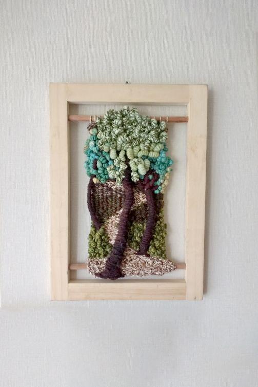 tapiz-hecho-en-bastidor-de-clavos-enmarcado | piezas de telar ...