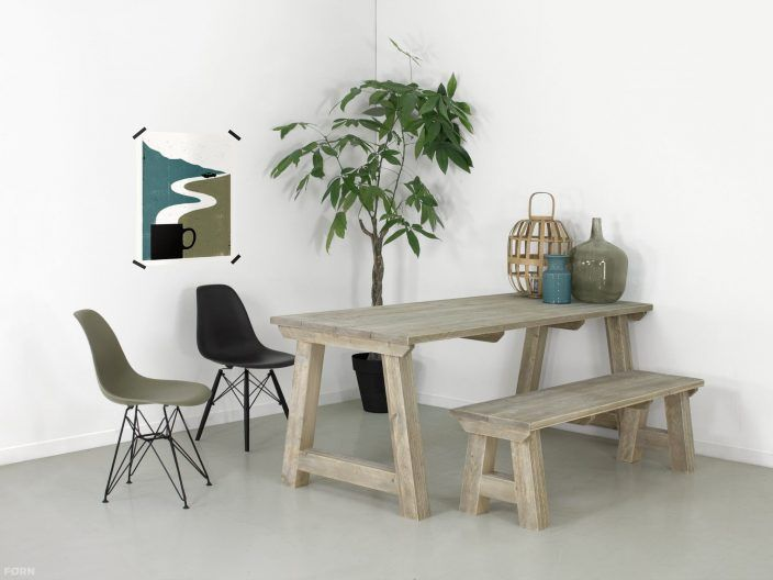 Wohnideen Büro Im Wohnzimmer bauholz tisch ida küche küche wohnzimmer wohnideen büro