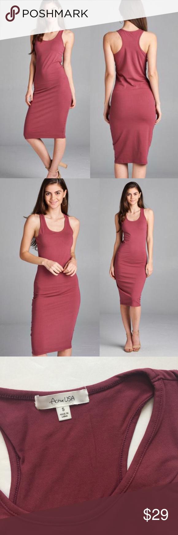 Small Racerback Bodycon Dress Mauve Bodycon Dress Knit Midi Dress Dresses [ 1740 x 580 Pixel ]
