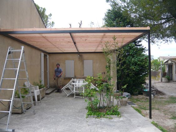 pergola bois-métal Instructions de montage Do-it-yourself jardin - Montage D Un Garage En Bois