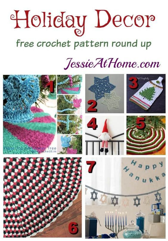 Holiday Decor free crochet pattern round up from Jessie At Home ...