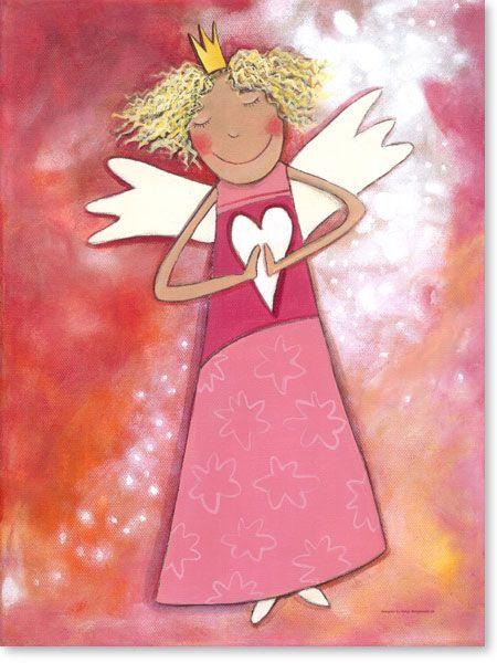 Acrylbild Schutzengel für Mädchen - Wandbilder fürs Kinderzimmer ...