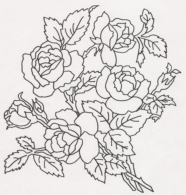 Картинки для росписи розы