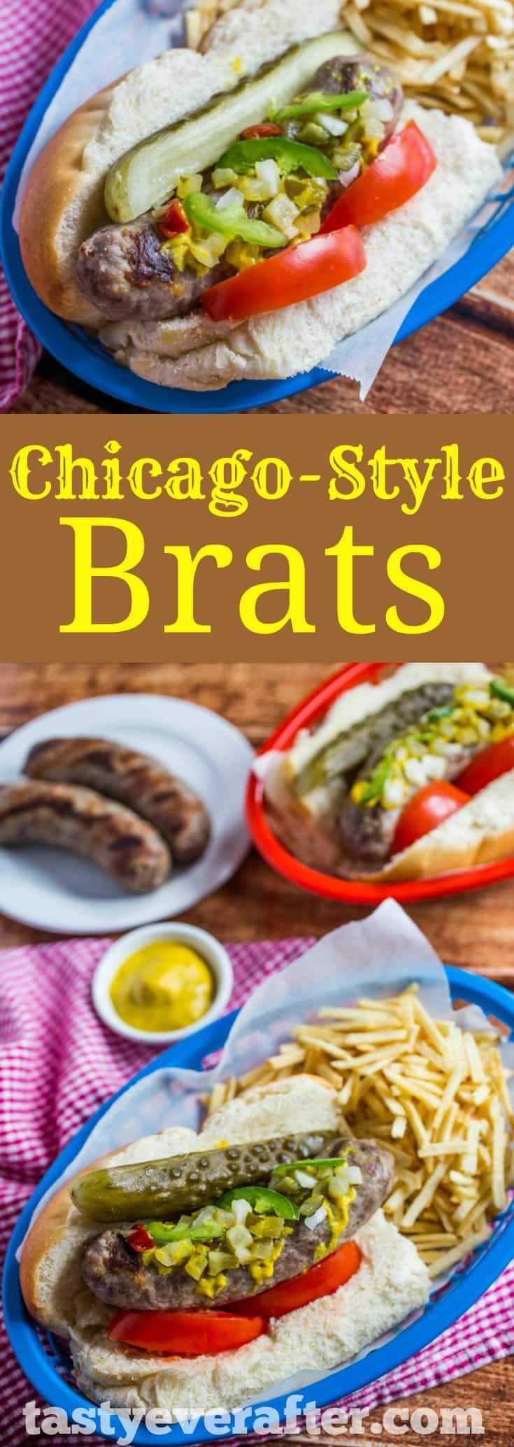 Chicagostyle brats recipe brats recipes food recipes
