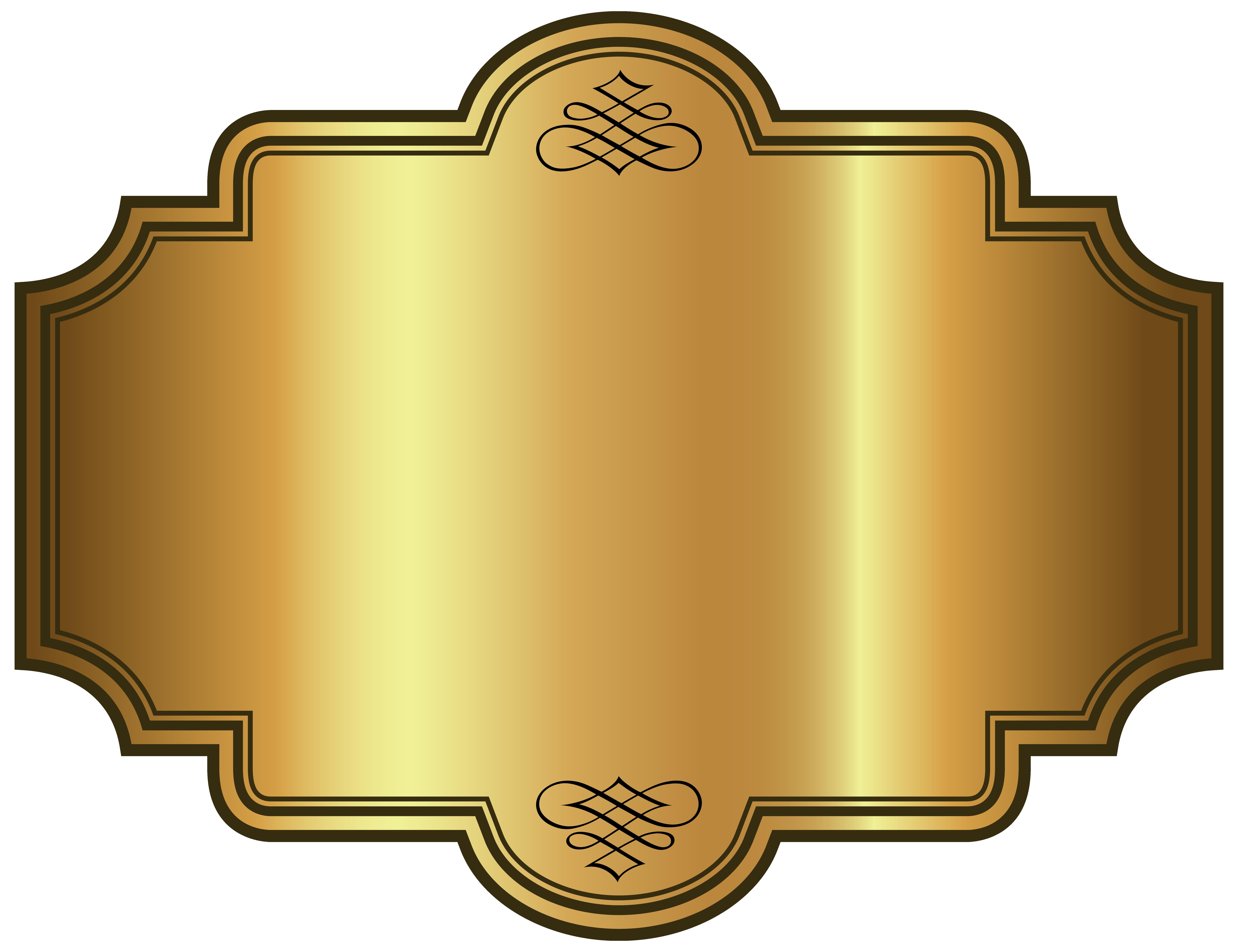 Golden Luxury Label Template Clipart Picture Gallery Yopriceville High Quality Images And Transparent Png Fre Karya Seni 3d Desain Produk Kartu Pernikahan