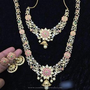 1 Gram Gold Plated Bridal Jewellery Sets ~ South India Jewels  sc 1 st  Pinterest & 1 Gram Gold Plated Bridal Jewellery Sets | Bridal jewelry South ...
