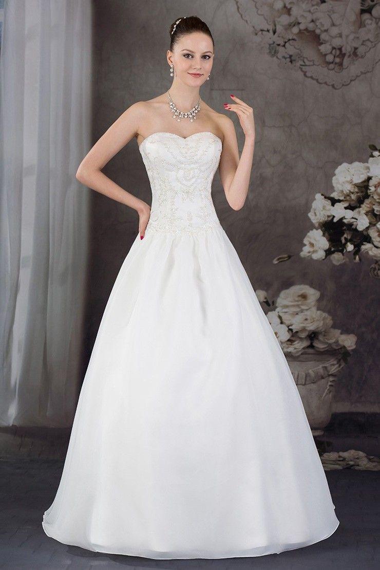 Stunning A Line Sweetheart Crystal Beaded White Taffeta Wedding Dress No Train Taffeta Wedding Dress Wedding Dresses Taffeta Perfect Wedding Dress