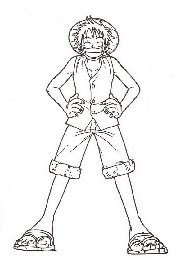 Monkey D Luffy One Piece Coloring Pages One Piece Hoạt Hinh