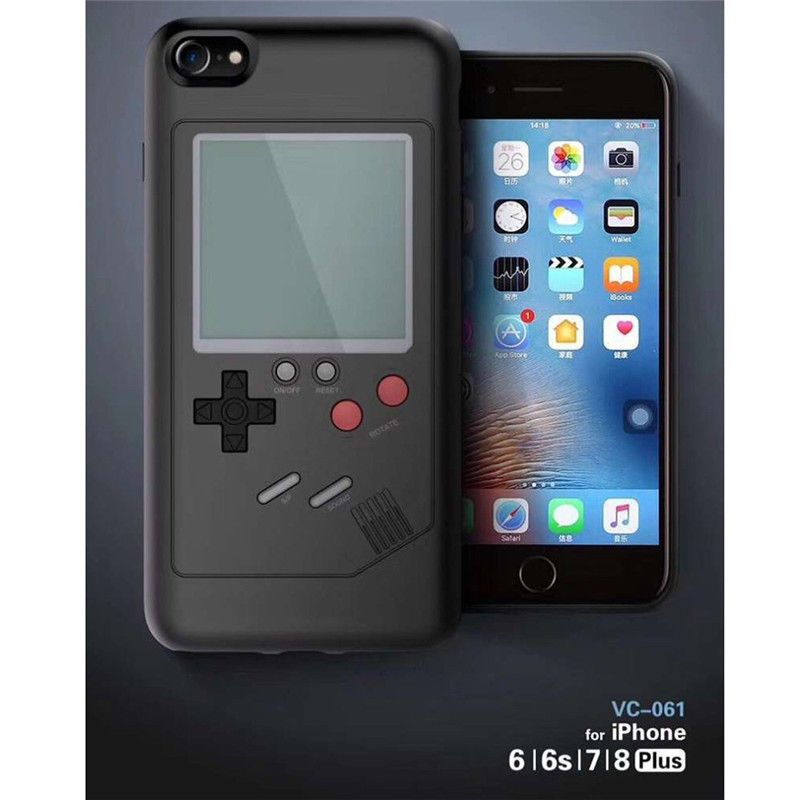 on sale 7cf05 4f6ae Gameboy Tetris Phone Case for iPhone 8 6S 7 Plus X Play Game Console ...