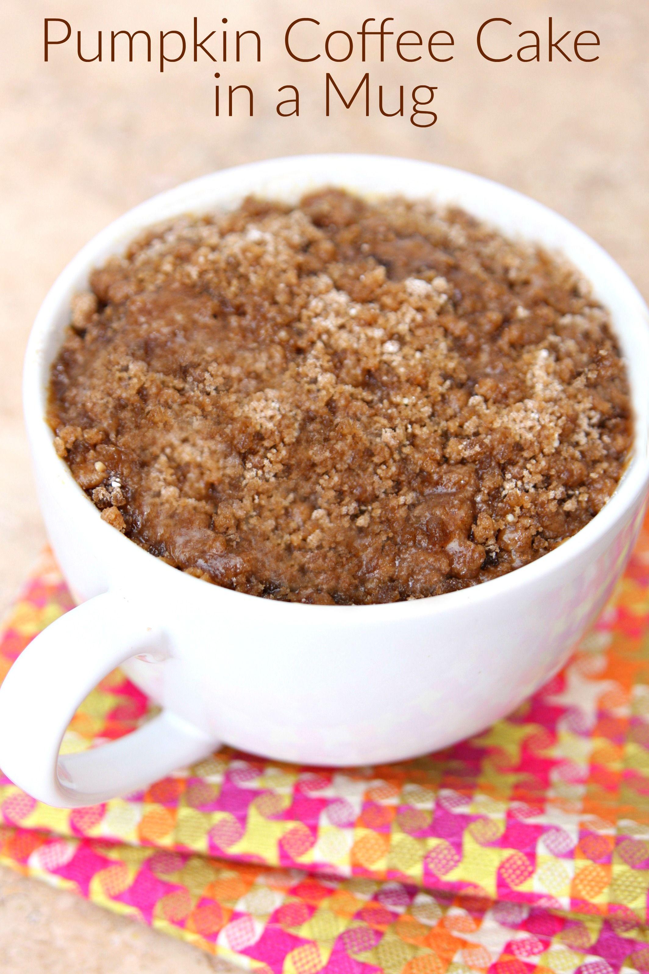 Pumpkin Coffee Cake in a Mug Recipe Pumpkin coffee