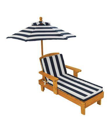 Navy Stripe Umbrella Chaise By Kidkraft Child Size So