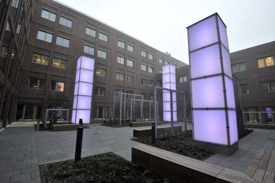 Orientation by Light, Maasstad Hospital | Rotterdam Netherlands Stijlgroep landscape and urban design « World Landscape Architecture – landscape architecture webzine