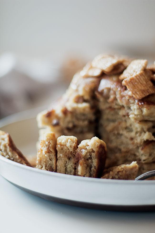 cinnamon toast crunch pancakes - Well Floured