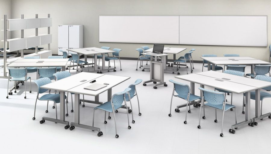 Modern Classroom Furniture Ideas : Abco classroom training tables with laminate finish