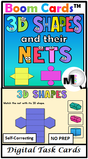 3D Shapes and Their NETS Digital Task Cards are paperless