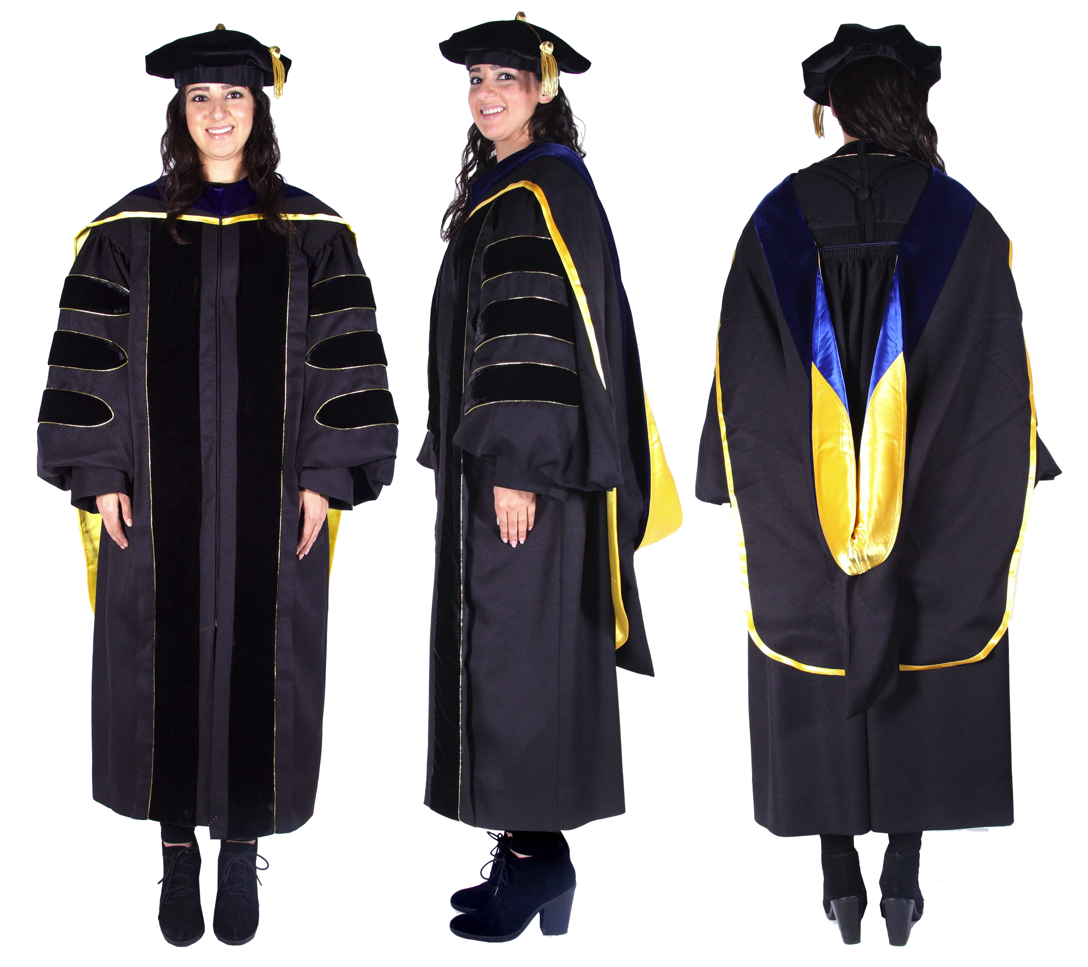 Premium Black Complete Doctoral Regalia | Graduate degree and School