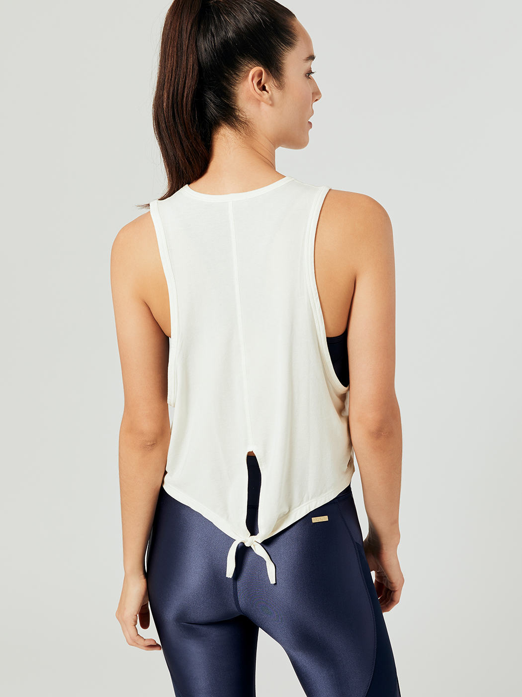 a9b5d2a3c478da Tie Back Jersey Tank Tops in Ivory by Alala from Carbon38