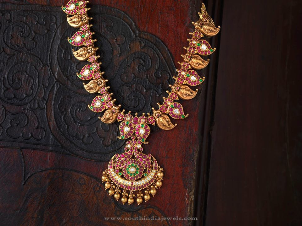 South Indian Style Gold Antique Jewellery Indian style Antique