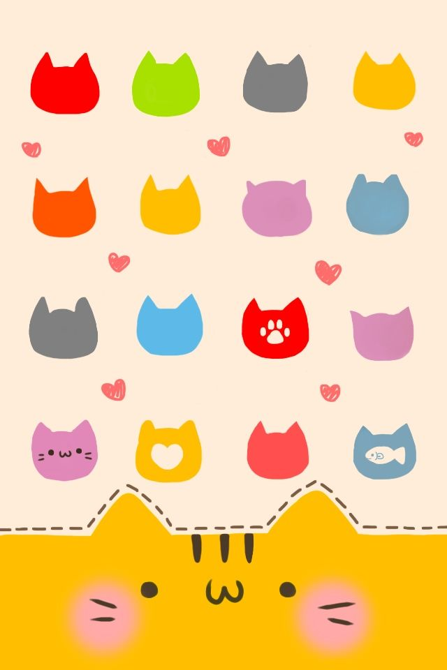 Cute Cat IPhone 4 Icon Skin