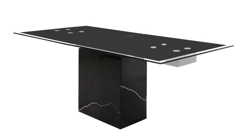 esstisch sinja ausziehtisch glas gestell marmor schwarz wohnung pinterest tisch esstisch. Black Bedroom Furniture Sets. Home Design Ideas