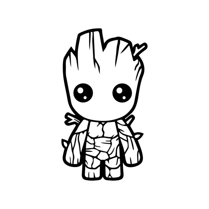 Image Result For Baby Groot Clip Art Wood Vinyl Decals Rhpinterest: Coloring Pages Baby Groot At Baymontmadison.com