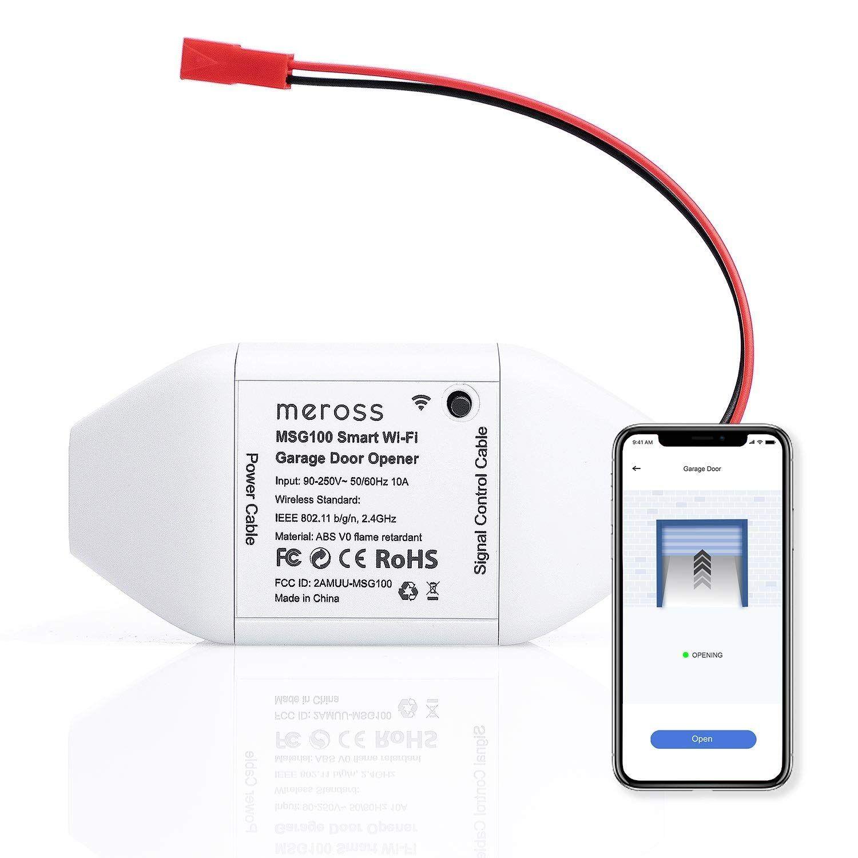 Meross Smart Wi Fi Garage Door Opener Remote App Control Compatible With Alexa Google Assistant And Ifttt No Hub Needed Garage Door Opener Remote Garage Doors Smart Garage Door Opener