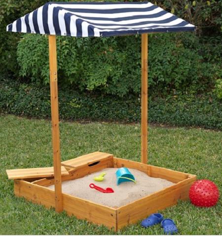 Kidkraft Outdoor Sandbox with Canopy 00165 | Kids sandbox ...