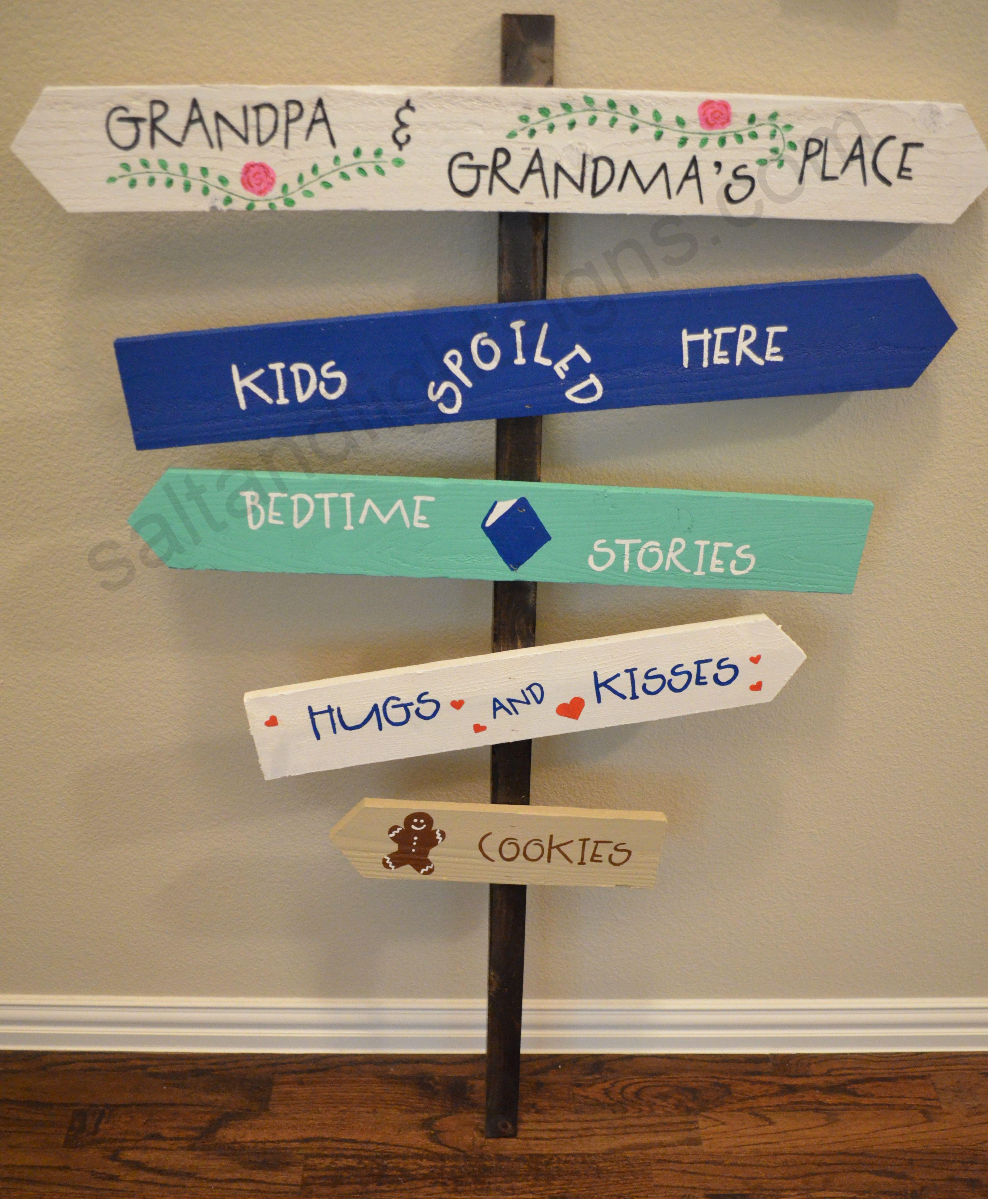 Saltandlightsigns Com Grandma Grandpa Wooden Yard Sign Misc