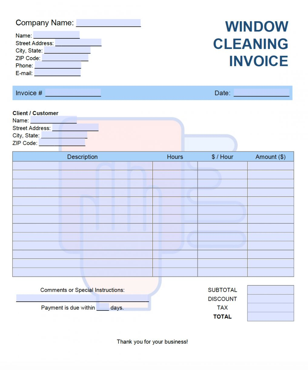 Explore Our Sample Of Window Cleaning Receipt Template In 2020 Invoice Design Template Invoice Template Receipt Template