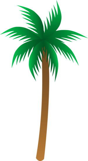Simple Palm Tree Design Palm Tree Clip Art Cartoon Palm Tree