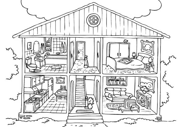 Free House Coloring Pages For Kids Coloring Sun House Colouring Pages Free Coloring Pages Coloring Pages For Kids
